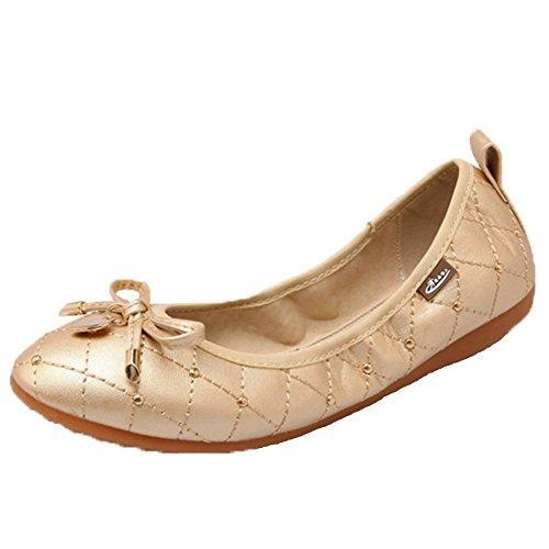 Women's Size Flats Opsun Ballet Gold 9 dnf0Aqw