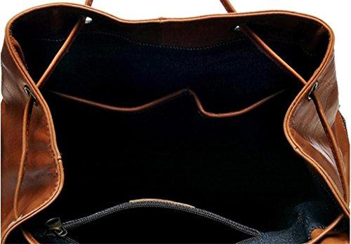 SHFANG Leder Doppel Umhängetasche Handtasche / Mode Freizeit Rucksack / Öl Wachs Leder / Computer Tasche Reisen einkaufen gehen zu arbeiten Schönes Geschenk
