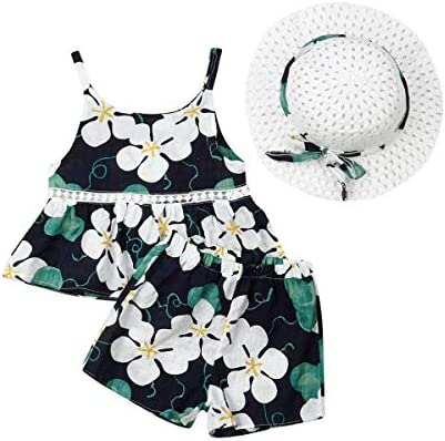 TODDLER KIDS BABY GIRLS SUMMER OUTFIT CLOTHES SHIRT TOP SHORT PANTS SET STRICT
