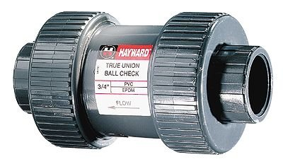 "Hayward True Union Ball Check Valve, 1"" socket and NPT(F) connectors by COLE-PARMER"