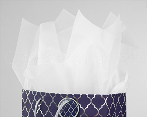 CleverDelights Premium White Tissue Paper - 1000 Sheets - 20'' x 30'' - Acid-Free Sheets - Bulk Ream by CleverDelights (Image #1)