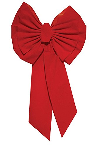 Holiday Trims Red Velvet Deluxe Bow 18'' Indoor/Outdoor Use