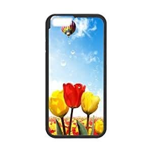 Dustin Balloon IPhone 6 Case Protection Tulips Hot Air Balloons, Iphone 6 Case Designer [Black]