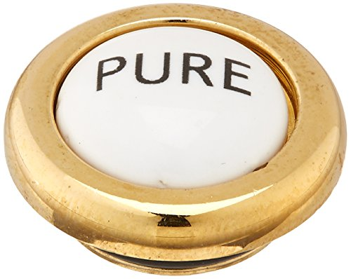 Rohl C7698PPIB Country Kitchen Pressure Fit Porcelain Screw Cover Cap Indice Complete with Inca Brass Trim and Pure Lettering in English to All A1435 and A1635