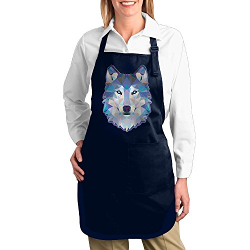 [Cool Wolf Kitchen Aprons For Women Men,Cooking Apron,bib Apron With Pockets] (Toddler Gardener Costume)
