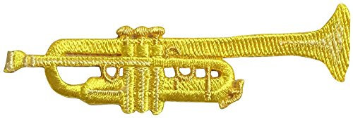 (Trumpet - Musical Instrument - Iron on Applique/Embroidered Patch)