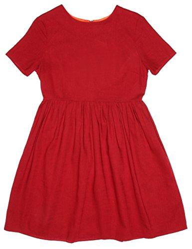 Para Jade Pepaloves wine Rojo Mujer Vestido EpaqUwF