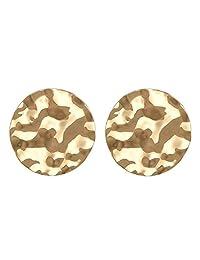 Lureme Vintage Hammered Disc Earrings for Women and Girls (er005951)
