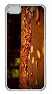 Customized iphone 5C PC Transparent Case - Fallen Leaves 2 Personalized Cover