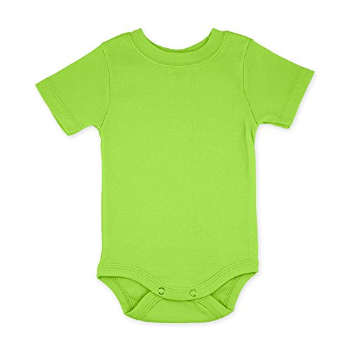 (Lime Green Short Sleeve Snapsuit Bodysut Onesie - Size 3-6 months)