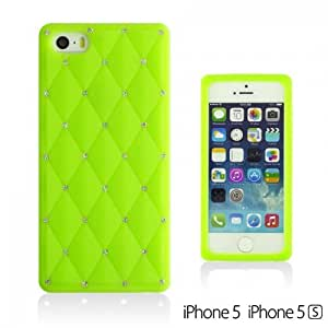 Checker Pattern Soft Silicone For HTC One M7 Case Cover - Green