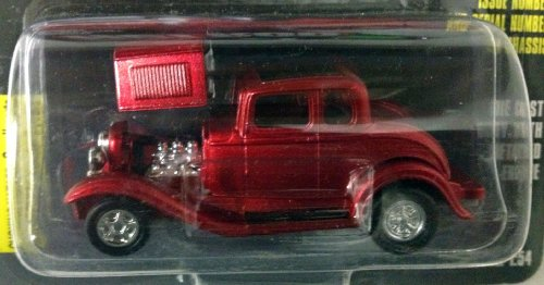 Racing Champions ~ HOT ROD MAGAZINE ~ Issue #21 / RED '32 FORD COUPE / 1:54 Scale Die Cast Car / 1997 32 Ford Coupe Hot Rod