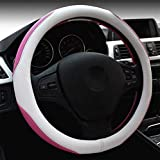 KYCD Multi-Function car Steering Wheel Cover Lady Cute Car Steering Wheel Cover (Pink) by NaXinF (Color : Pink)