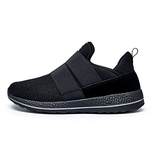 Gomnear Lightweight Men Slip-on Casual Fashion Sneakers Breathable Athletic Sports Running Shoes Black IKIgzB19Hj