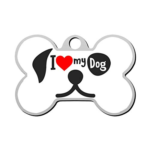 - OSJHDFjd Together Dog Gift Team Animal Love Pet Present Personalized Pet ID Tags Bone Shape Dog Tags & Cat Tags Identity Tags- DIY Custom
