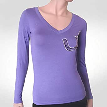 Ungaro Purple Cotton Round Neck T-Shirt For Girls