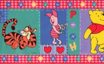 Pooh Patchwork Border - Pooh Patchwork