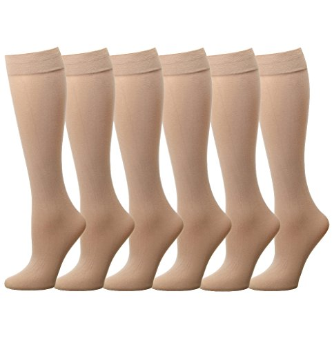 (Women Trouser Socks (6-Pack) 700-8-BEIGE6)