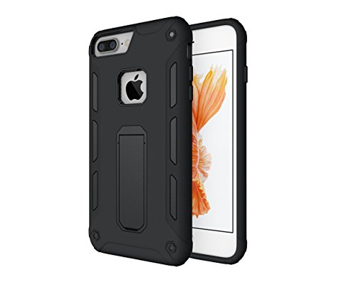 Iphone 8 Plus Iphone 7 Plus Case  Hurriking Slim Heavy Duty Protection Dual Layer Armor Black With Kickstand For Apple Iphone 8 Plus  2017