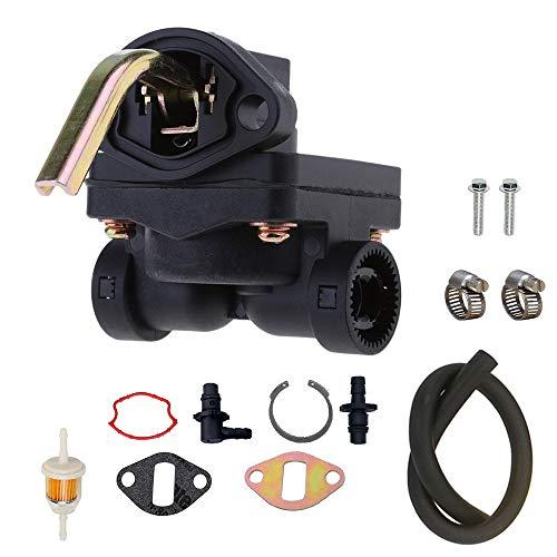 LIYYOO 12-559-02-S Fuel Pump for Kohler Engines Including 1255902-S 1255901-S 1239303 1255901 12-559-02-S 12-559-01-S 12-393-03 with Fuel Filter & tubing (Kohler Engine Fuel Pump)