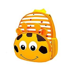 Toddler Kids Backpacks Cute 3D Animal Children School Bag (Pattern Giraffe)
