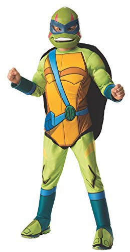 Tortoise Halloween Costume (Rubie's Child's Rise Of The Teenage Mutant Ninja Turtles Deluxe Costume, Leonardo,)