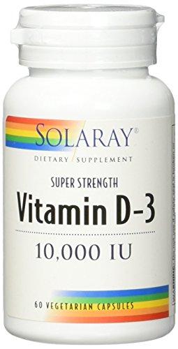 Solaray D3 10,000 LU VCapsules, 60 Count