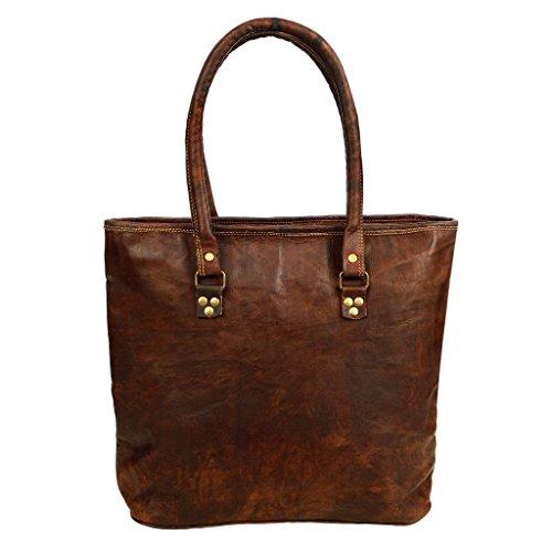 Grande borsa per spesa in pelle