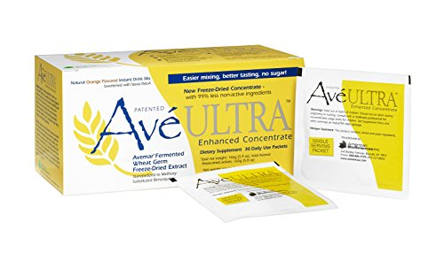 American BioSciences AveULTRA, Daily Immune System and Cell Support, Fermented Wheat Germ Extract, Natural Orange-Flavored Instant Drink Mix, 30 Packets
