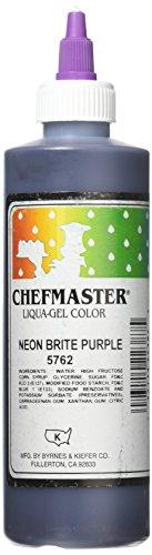Chefmaster Liqua-Gel Food Color, 10.5-Ounce, Neon Brite Purple by Chefmaster
