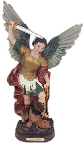 """17"""" Statue of Saint Michael the Archangel San Miguel Arcange"""