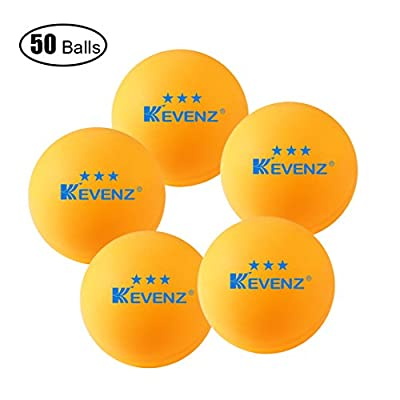 50-Pack Orang KEVENZ 3-Star 40mm Table Tennis Balls,Advanced Training Ping Pong Ball (Practice ping-pong) by KEVENZ