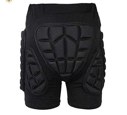 3D EVA Impact Short Protective Hip Butt Paded Pants For Adult & Child Skating Skiing Ski Skate Snowboard Protection (L)