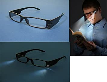 a6fd7e151dda Magnifying reading glasses with built in LED Light x 3.5: Amazon.co ...