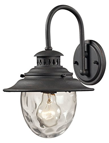 Searsport 1 Light Outdoor Sconce in Weathered Charcoal ()