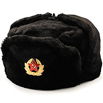 da0db8ff683 Image Unavailable. Image not available for. Color  Russian Soviet winter  hat Ushanka with military removable badge ...