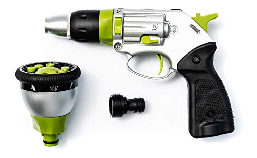 Garden Guns Hose Nozzle – Features 11 Spray Patterns, Water Pressure Adjustment, Heavy Duty Metal Frame, High Water Pressure and Unique Pistol Design
