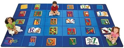 Carpets for Kids 2607 Reading by The Book Rectangle Carpet 7 6 x12