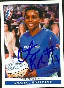 Autograph 118871 New York Liberty 2005 Wnba Enterprises No. 3 Crystal Robinson Autographed Basketball Card ()