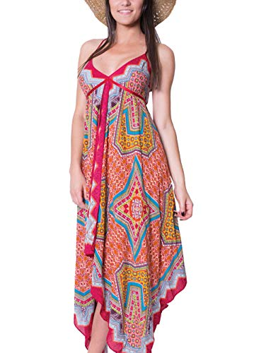 Longue Imprimé Robe Rouge Monde Du Multicolore Orlana 45 Coton Cwtq4xA