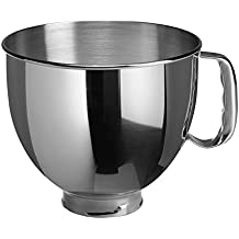 KitchenAid K5THSBP Tilt-Head Mixer Bowl with Handle, Polished Stainless Steel, Polished Stainless Steel, 5-Quart