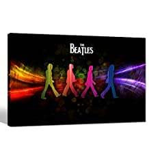 Home Decoration Canvas Prints Stretched Wood Frame Famous Rock Band Beatles Poster Wall Decor Music Canvas Wall Art for Living Room