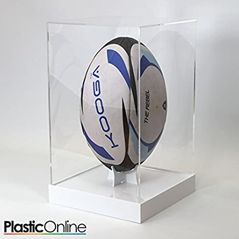 Balón de Rugby vitrina vertical – Base de color blanco: Amazon.es ...