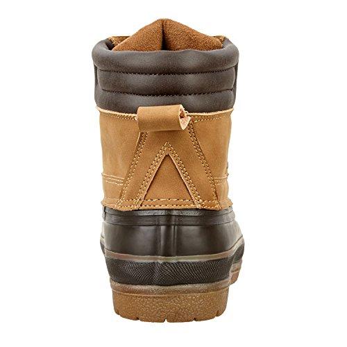 Stiefelette »MUDKING« Waterproof. Bequeme Boots | Robuster und haltbarer Reit-Schuh, auch Arbeitsschuh und Reitstiefelette | Tolle Stableboot Passform | Stiefel Größen 36-46 | Farbe: beige-schwarz schwarz
