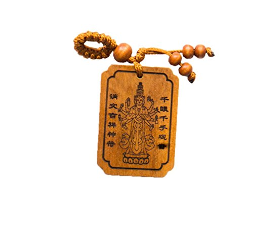 Goddess of Health and Wealth - Handmade Wood Fortune Protection, Good Luck Charms, Fortune Mantra Written on Back Side, Bring Good Luck in Financial and Love Life, Hand Crafted ()