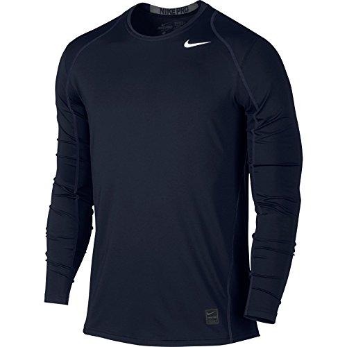 Nike Mens Pro Cool Long Sleeve Training Shirt Obsidian/Dark Grey.White 703100-451 Size Small