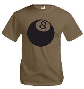 T-Shirt Billiard Ball-M-Khaki-Black
