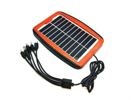 ERH India High Power Solar Panel Solar Mobile Charger for Multiple Applications with 5 Output Pins