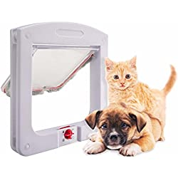New Design Cat Flap Doors with 4 Way Lock for Pets Entry & Exit-2016 Overall Size 225 MM X 200 MM