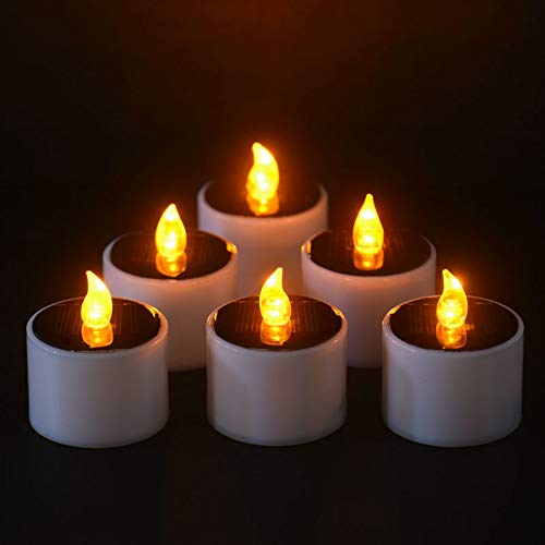 Wall of Dragon LED Nightlight Solar Energy Candle6 Pieces/Lot New Type Yellow Flicker Solar Power LED Light Candles Flameless Electronic by Wall of Dragon